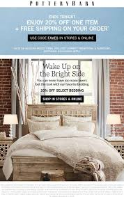 Pottery Barn Coupons - 20% Off A Single Item Today At