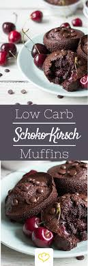 kalorienarme schoko kirsch muffins
