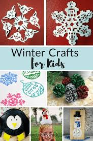 Collage Of Winter Crafts For Kids
