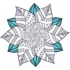 Unique Mandala Vector In Floral Style Circle Zentangle For Coloring Book Pages Round Ornament