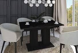 design esstisch tisch de 1 schwarz hochglanz ausziehbar 130 bis 170 cm
