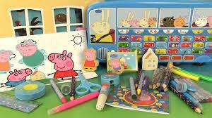 peppa pig jouets créatifs ma maison d activités le alphabet