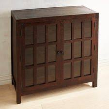 Parsons Tobacco Brown Small Glass Door Buffet