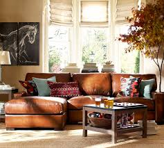 Pottery Barn Turner Sofa Look Alike by Turner Square Arm Leather 2 Piece Chaise Sectional Looks