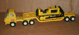 100 Vintage Tonka Truck 134 TINY TONKA Lowboy Trailer And Bulldozer 1960s