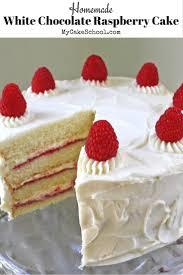 Homemade White Chocolate Raspberry Cake Recipe Ultra moist and delicious