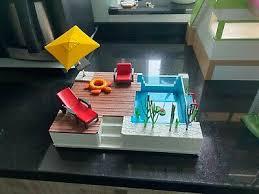 playmobil luxusvilla 5574 gästebungalow 5586 swimming