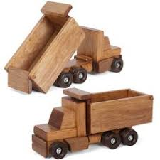 working dump truck wooden construction toy amish handmade wood