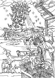 Bible Christmas Story Holy Spirit Come Down To Earth Colouring Page
