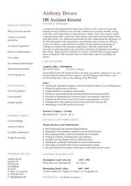 Hr Assistant Cv Template Job Description Sample