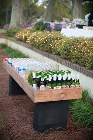 Make A Shallow Plywood Box And Set It Atop Cinder Blocks For Bar Like Outdoor EntertainingOutdoor PartiesGarden