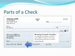 Identifying the Parts of a Check Parts of a Check A check is
