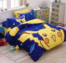 cotton Pokemon Go Bedding Set pikachu Kids Favorite Home