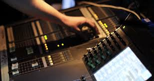 Audio Mixer Panel Board Desk Mix Editing Switch Equalizer Record Professional Media Technology Mixing Equipment Digital Music Studio Radio Club Producer