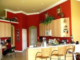 Red Walls In Living Room Paint Colors For Kitchen Accents Painting Furniture