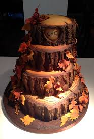 Rustic Tree Fall Wedding Cake Picture On Cakes