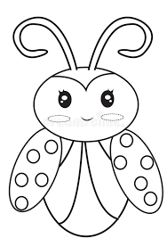 Download Ladybug Coloring Page Stock Illustration