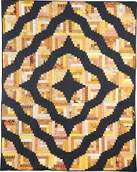 Curved Log CabinYellow & Gray Modern Quilt log cabin quilt pattern