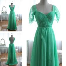 Cap Sleeve Bridesmaid Dresses Floor Length by Simple Green Chiffon Cap Sleeve A Line Floor Length Cheap