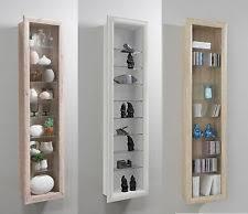 Bora Wall Mounted Glass Wood Display Cabinet Shelving
