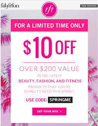 New FabFitFun VIP Box $10 Coupon! | MSA Sorel Canada Promo Code Deal Save 50 Off Springsummer A Year Of Boxes Fabfitfun Spring 2019 Box Now Available Springtime Inc Coupon Code Ugg Store Sf Last Call Causebox Free Mystery Bundle The Hundreds Recent Discounts Plus 10 Coupon Tools 2 Tiaras Le Chateau 2018 Canada Coupons Mma Warehouse Sephora Vib Rouge Sale Flyer Confirmed Dates Cakeworthy Ulta 20 Off Everything April Lee Jeans How Do I Enter A Bonanza Help Center