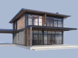 100 Modern Hiuse House Model Contemporary Exterior Building 3D Model