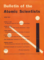 Cover Of The 1947 Bulletin Atomic Scientists Issue Featuring Doomsday Clock At Seven Minutes To Midnight