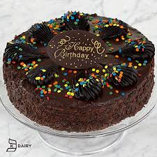 Happy birthday chocolate mousse torte with belgian chocolate plaque