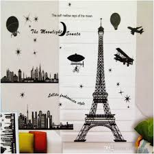Eiffel Tower Wall Art Paris Decoration Living Room Large Vinyl