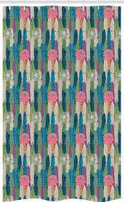 abakuhaus duschvorhang badezimmer deko set aus stoff mit haken breite 120 cm höhe 180 cm kaktus pastell sukkulente blumen kaufen otto