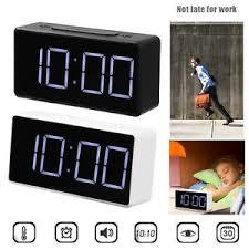 details zu digitaluhr led digitaler wecker alarm clock temperatur tischuhr für schlafzimmer