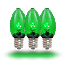lights green led glass bulbs novelty
