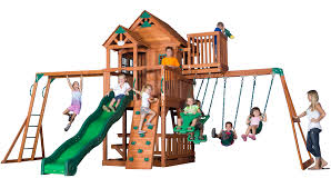 Skyfort Swingset With Raised Clubhouse, Swings, Slide, Crow's Nest ... Fun Shack W Lower Level Cversion And Rave Slide X 2 Monkey Bar How To Build Bars My 100 Backyard Design Action Economics Homemade Home Outdoor Decoration With Swing Exterior Diy Playground Ideas Gemini Wood Fort Swingset Plans Jack S Fantasy Tree House Jungle Gym Eastern Wooden Playsets Extreme 5 Playset With Tire Diy Lawrahetcom Big Cedarbrook Set Toysrus Backyard Monkey Bars 28 Images How To Build Search