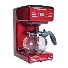 NostalgiaTM Electrics Retro Electric Coffee Maker In Red