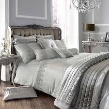 Kohls Jennifer Lopez Bedding by Kylie Minogue At Home Luxury Designer Grey Antique Lace Faux Silk