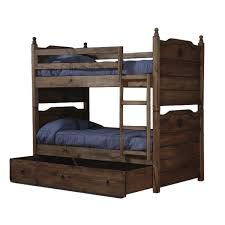 Rustic Twin Bunk Bed W Texas Star