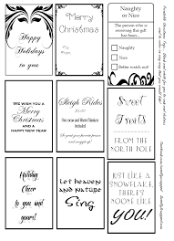 Free Printable Christmas Tags In Black And White Color Ink Distress The Way