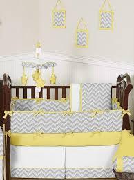 Yellow & Gray Chevron Baby Bedding & Crib Set Sweet Jojo Designs