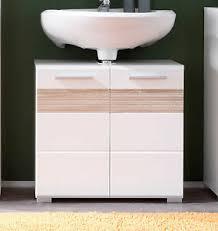 details zu badezimmer waschbecken unterschrank hochglanz weiß eiche bad schrank mezzo 60 cm