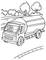 Milk Tank Truck Coloring Page