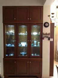 Crockery Unit Made To Order In A Niche That Existed Along With Space Display