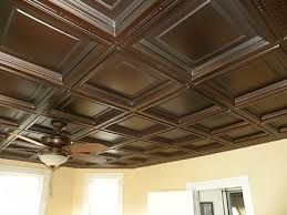 Ceilume Drop Ceiling Tiles by Fleur De Lis Faux Bronze By Ceilume