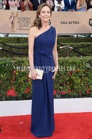 sag awards 2016 red carpet celebrity dress diane lane one shoulder