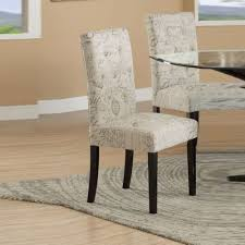 Benzara BM171504 39 X 19 X 21 In. Dining Chairs With Micro Suede Print,  Cream & Black - Set Of 2 Octorose Classic Micro Suede Set Of Two Chair Covers 1 Pc Soft Fniture Slipcover For Loveseat 20 Luxury Design Microfiber Ding Seat Room Chairs Off White Eamoxyz Parson For Your Interior Ideas Maria Upholstered Serta Reversible Stretch Slipcovers Short Skirt Microsuede Parsons 2