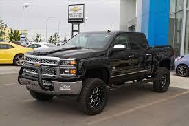 2015 Chevy Silverado Black Widow Edition Jacked Up Truck Just Like ...