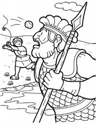 David And Goliath Coloring Pages Wallpapercraft Inside