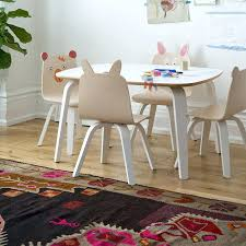 Kids Playroom Table Chairs In Birch Or Walnut By Home Ideas