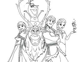 Free Printable Frozen Coloring Pages As Well Characters To Color