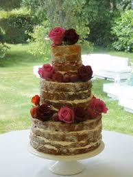 As For The Wedding Cake Itself Naked Is Very Much Of Moment Light A Feather Sponge Sandwiched With Cream And Jam Decorated