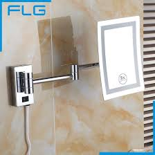 makeup mirrors led wall mounted extending folding single side led